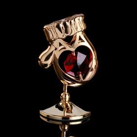 """Сувенир с кристаллами Swarovski """"Варежка"""" 5,4х3,6 см"""
