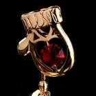 """Сувенир с кристаллами Swarovski """"Варежка"""" 5,4х3,6 см - Фото 4"""