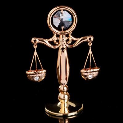 """Сувенир с кристаллами Swarovski """"Античные весы"""" 8,4х6 см"""