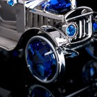 "Сувенир с кристаллами Swarovski ""Винтажная машина"" хром 8,7х4 см - Фото 5"
