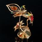 "Сувенир с кристаллами Swarovski ""Бабочка на орхидее"" 10х7,8 см - Фото 2"
