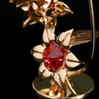 "Сувенир с кристаллами Swarovski ""Бабочка на орхидее"" 10х7,8 см - Фото 4"