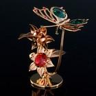 """Сувенир с кристаллами Swarovski """"Бабочка на цветке"""" 10х7,8 см - Фото 2"""