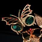 """Сувенир с кристаллами Swarovski """"Бабочка на цветке"""" 10х7,8 см - Фото 3"""