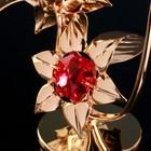 """Сувенир с кристаллами Swarovski """"Бабочка на цветке"""" 10х7,8 см - Фото 4"""