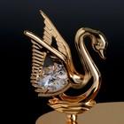 """Сувенир с кристаллами Swarovski """"Лебедь и сердце"""" 11,5х6,2 см - Фото 3"""