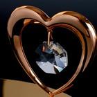 """Сувенир с кристаллами Swarovski """"Лебедь и сердце"""" 11,5х6,2 см - Фото 4"""