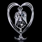 """Сувенир с кристаллами Swarovski """"Ангел-хранитель"""" хром 10,2х7,8 см - Фото 3"""