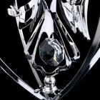 """Сувенир с кристаллами Swarovski """"Ангел-хранитель"""" хром 10,2х7,8 см - Фото 5"""
