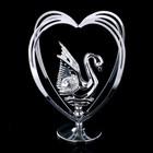 """Сувенир с кристаллами Swarovski """"Лебедь"""" 10,2х7,8 см"""