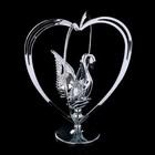 """Сувенир с кристаллами Swarovski """"Лебедь"""" 10,2х7,8 см - Фото 2"""