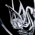 """Сувенир с кристаллами Swarovski """"Лебедь"""" 10,2х7,8 см - Фото 4"""