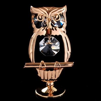 """Сувенир с кристаллами Swarovski """"Сова"""" 9,1х5 см"""