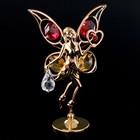 "Сувенир с кристаллами Swarovski ""Цветочная фея"" золото 10х6,5 см - Фото 2"