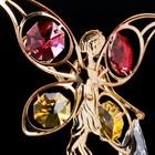 "Сувенир с кристаллами Swarovski ""Цветочная фея"" золото 10х6,5 см - Фото 3"