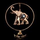 """Сувенир с кристаллами Swarovski """"Слон"""" на подвеске 8х7,1 см"""
