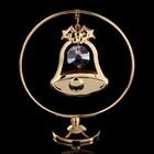 "Сувенир с кристаллами Swarovski ""Колокольчик"" на подвеске 8х7,1 см"