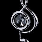 """Сувенир с кристаллами Swarovski """"Скрипичный ключ"""" хром 7,6х3,7 см - Фото 4"""