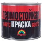 Краска Радуга 818 термостойкая до 600С чёрная 0,4 кг