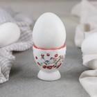 Подставка для яйца «Снегири», 4,5×5 см