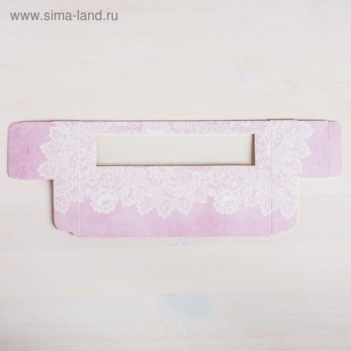 Коробка складная  «С любовью для тебя» 18 х 5,5 х 5,5 см.