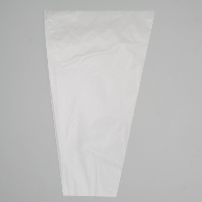 Пакет для цветов конус Прозрачный, 25 х 40 см