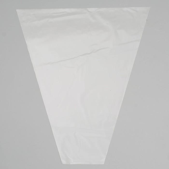 Пакет для цветов конус Прозрачный, 35 х 40 см
