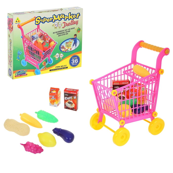 """Игровой набор """"Супермаркет"""" с продуктами"""" (маленькая), высота: 27 см"""
