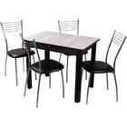 Обеденная группа , стол Джаз и 4 стула Омега 1, столешница 22мм, 880(1250)х600х750