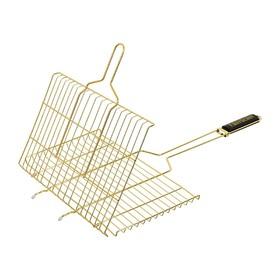 Решётка-гриль BOYSCOUT для стейков, 70(+5)х45х27х2 см, цвет золото