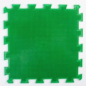 Детский массажный коврик 1 модуль 'Мягкая Трава', цвет зелёный Ош