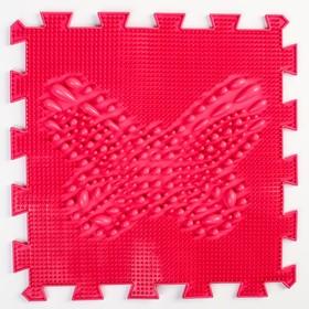 Детский массажный коврик 1 модуль 'Бабочка', цвет МИКС Ош