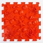 Детский массажный коврик 1 модуль «Морское дно», цвет красный