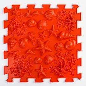 Детский массажный коврик 1 модуль 'Морское дно' цвет красный Ош