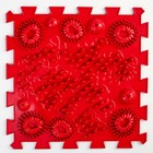 Детский массажный коврик 1 модуль «Морской Риф», цвет темно-красный