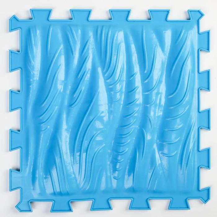 Детский массажный коврик 1 модуль Морская Волна, цвет синий