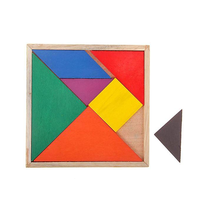 Головоломка квадратная, 7 деталей
