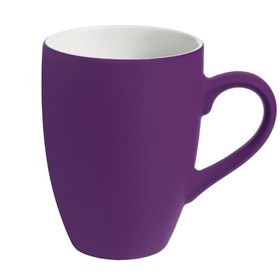 Кружка Best Morning c покрытием софт-тач, 320 мл, фиолетовая
