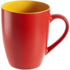 Кружка Bright Tulip 340 мл, матовая, красная с жёлтым - Фото 1