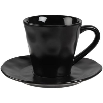 Кофейная пара Dark Fluid 200 мл, чёрная - Фото 1
