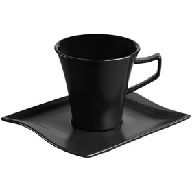 Кофейная пара Twist Mist 200 мл, чёрная