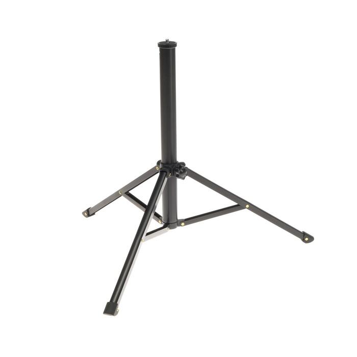 Стойка-тренога LuazON напольная, для фото/видео студии, 34-130 см, черная