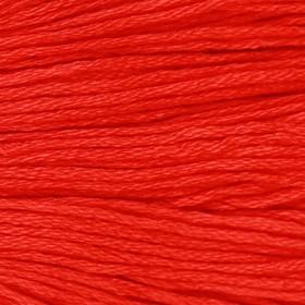 Нитки мулине, 8 ± 1 м, цвет красный №606