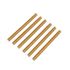 Клеевые стержни TUNDRA, 7 х 100 мм, золотистые с блестками, 6 шт.