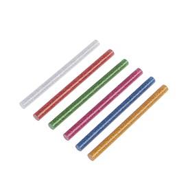 Клеевые стержни TUNDRA, 7 х 100 мм, разноцветные с блестками, 6 шт.