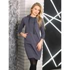 Платье женское, цвет серый, размер 42