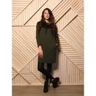 Платье женское, цвет хаки/полоска, размер 5