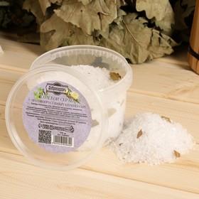 """Солевой скраб """"Добропаровъ"""" из белой каменной соли с противопростудным комплексом, 550 гр"""
