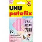 Клеящие подушечки UHU PATAFIX пастельные, розовые, 80шт