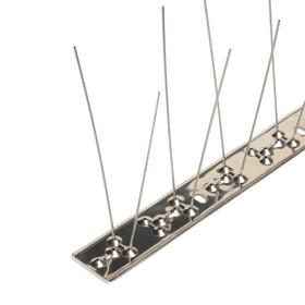 Отпугиватель птиц 'Шипы противоприсадные 'Барьер-Премиум 2М' Металл, 50 см, 24 шипа, 2 ряда   483370 Ош